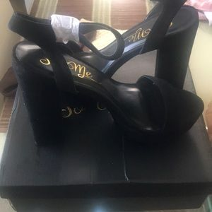 "Brand New ""Lucky"" Black heels from Fashion Nova"